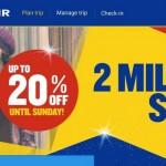 Ryanair: распродажа 2000000 билетов со скидкой 20%!