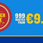 Ryanair: распродажа авиабилетов от 9€ на 999 рейсов по Европе! —