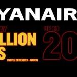 Ryanair: 10 000 000 авиабилетов со скидкой 20%!